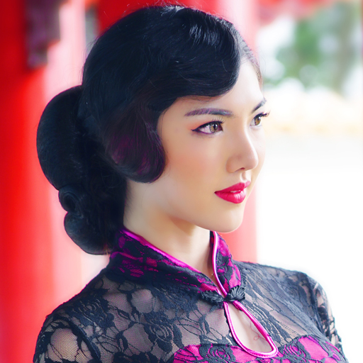 Makeup Artist Singapore - Cheongsam - Fingerwave Hair